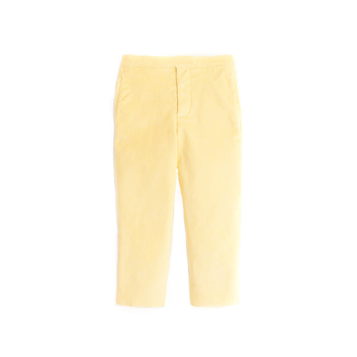 Buttercup Yellow Corduroy Pull On Pants