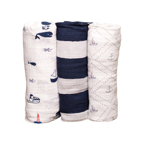 Anchors Aweigh Cotton Swaddle Set