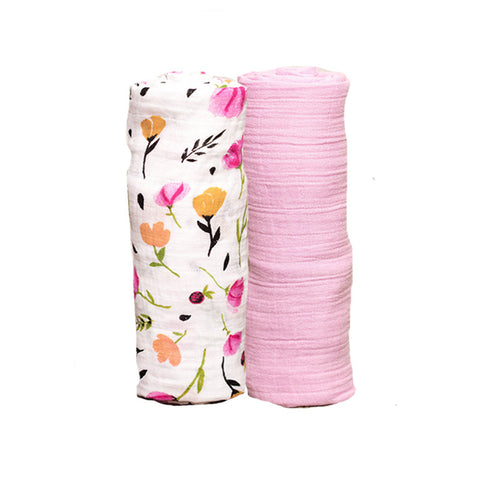 Berry Bloom Organic Cotton Swaddle Set