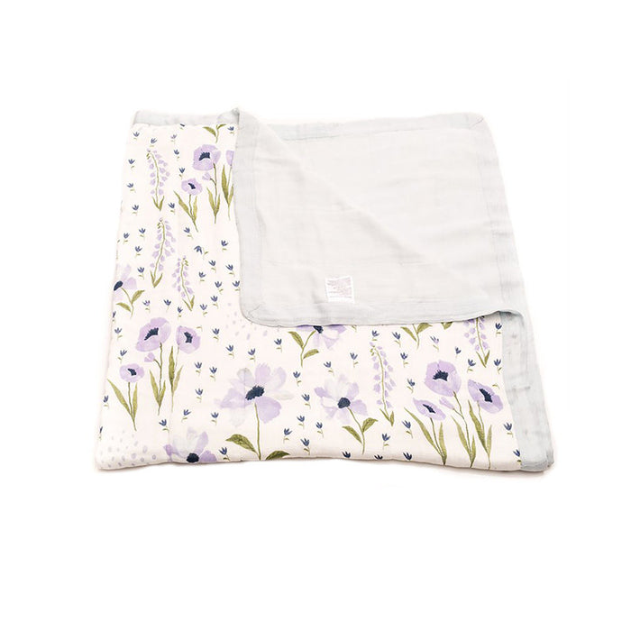 Blue Windflower Deluxe Muslin Quilt