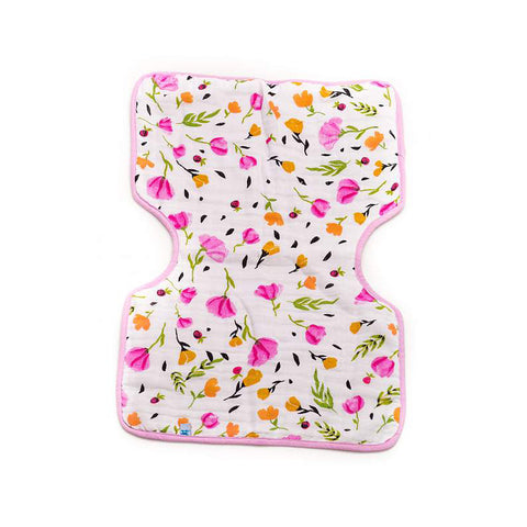 Berry Bloom Cotton Muslin Burp Cloth