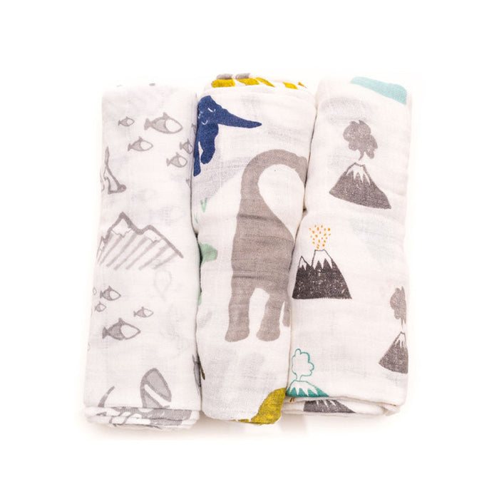 Dino Friends Cotton Swaddle Set