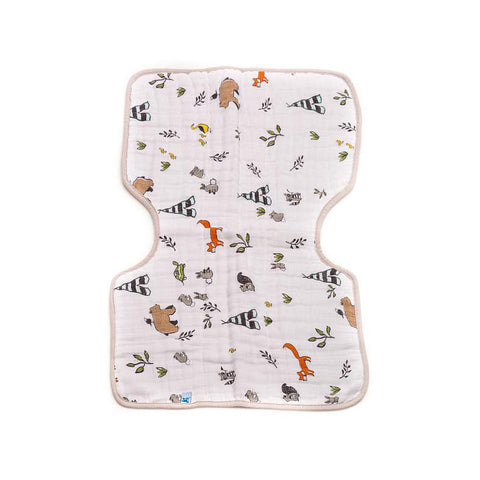 Forest Friends Cotton Muslin Burp Cloth