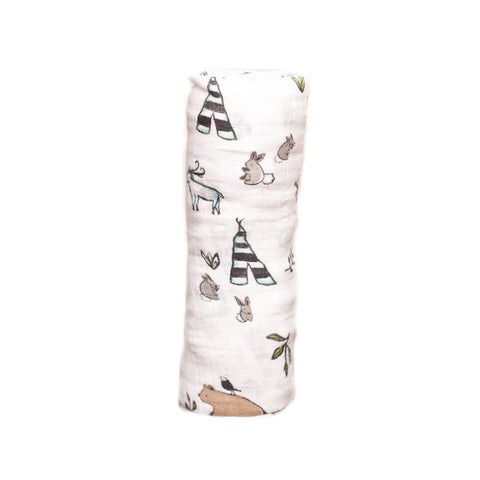 Forest Friends Cotton Muslin Swaddle