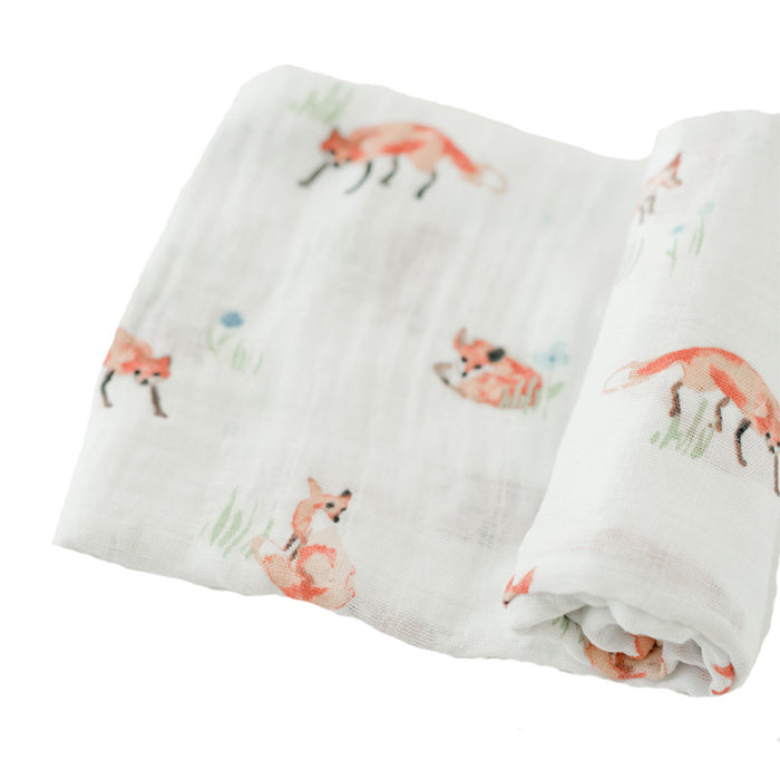 Fox Cotton Muslin Swaddle