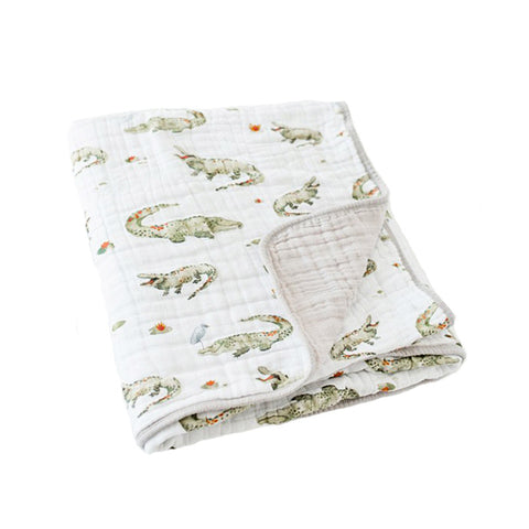 Alligator Cotton Muslin Quilt