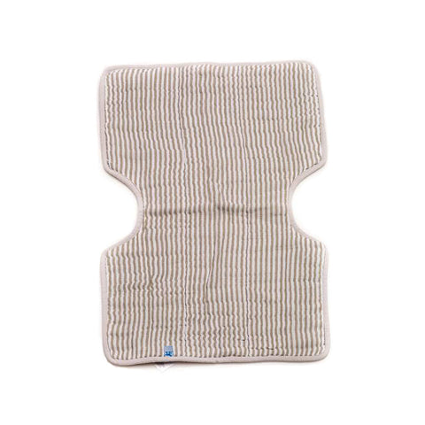 Grey Stripe Cotton Muslin Burp Cloth