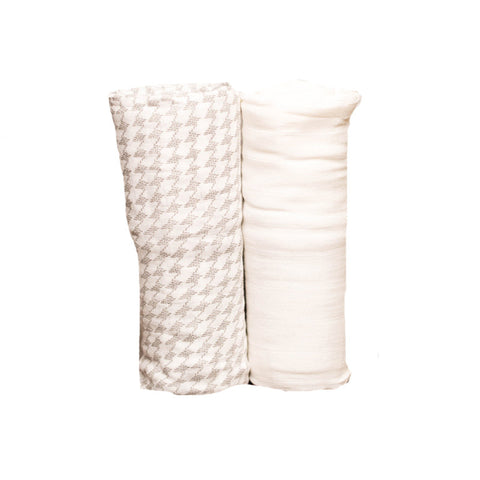 Houndstooth Deluxe Swaddle Set