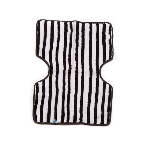 Ink Stripe Cotton Muslin Burp Cloth