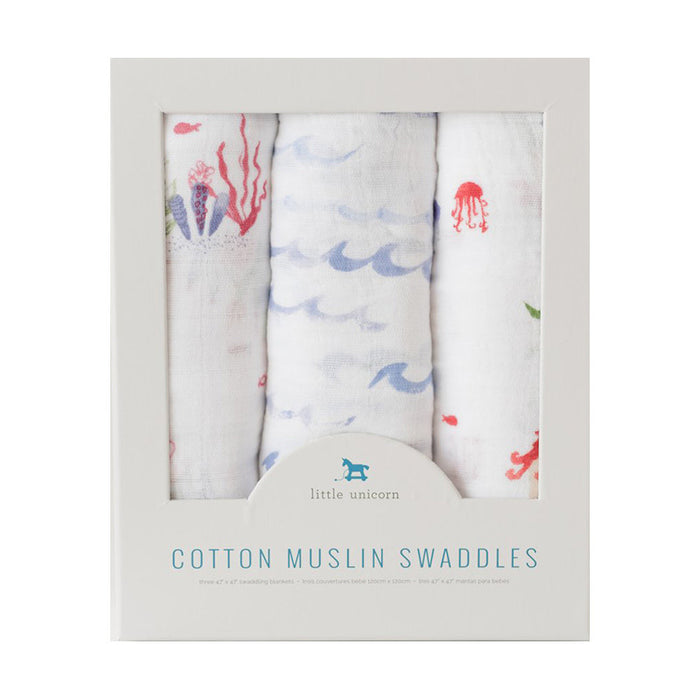 Mermaid Cotton Muslin Swaddle Set