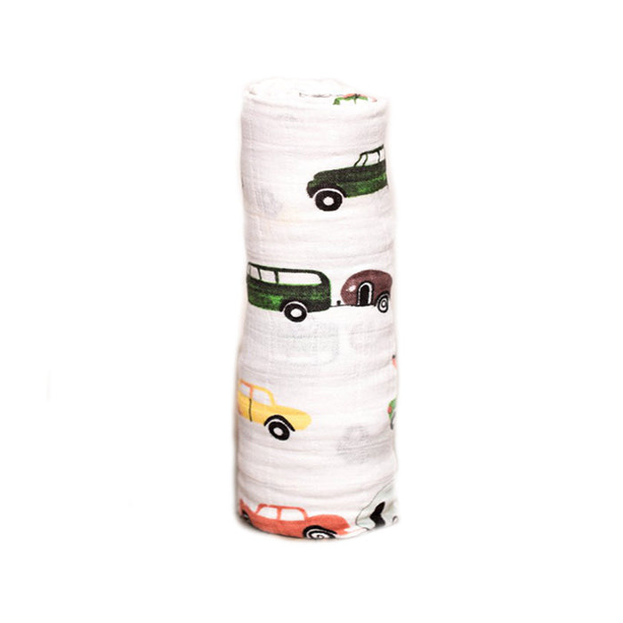 Traffic Jam Cotton Muslin Swaddle