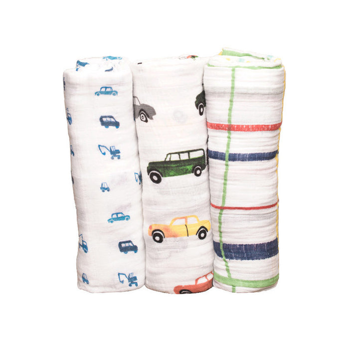 Traffic Jam Cotton Swaddle Set