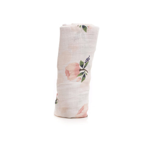 Watercolor Rose Cotton Muslin Swaddle