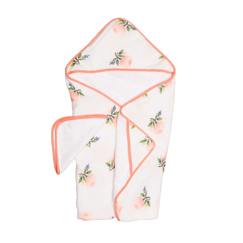 Watercolor Rose Hooded Towel Set