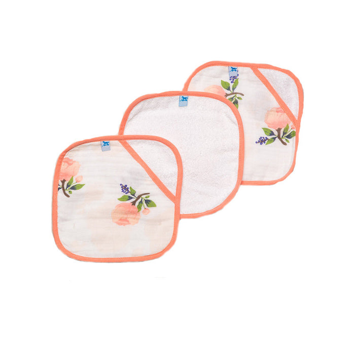 Watercolor Rose Washcloth Set