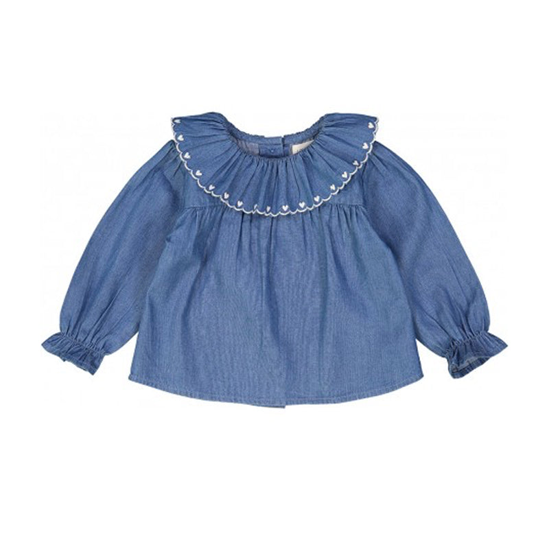 Chambray Delphine Blouse