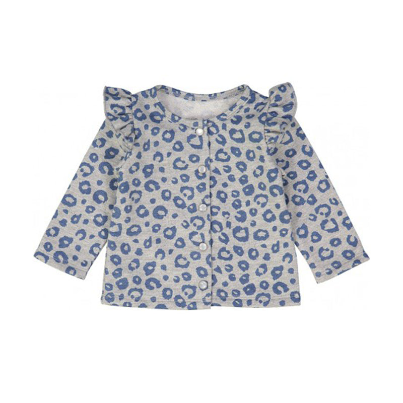 Blue Leopard Fleece Laura Sweatshirt