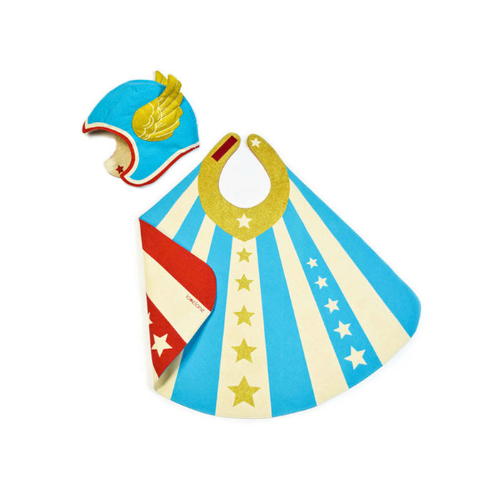 Blue Flying Super Hero Costume