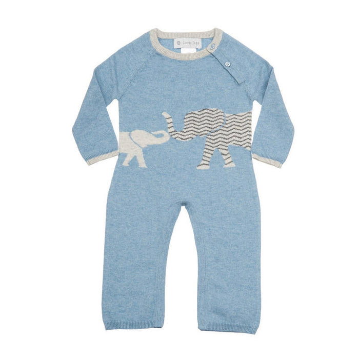 Blue Cashmere Elephant Coverall