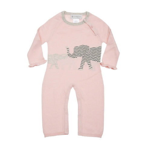 Pink Cashmere Elephant Coverall