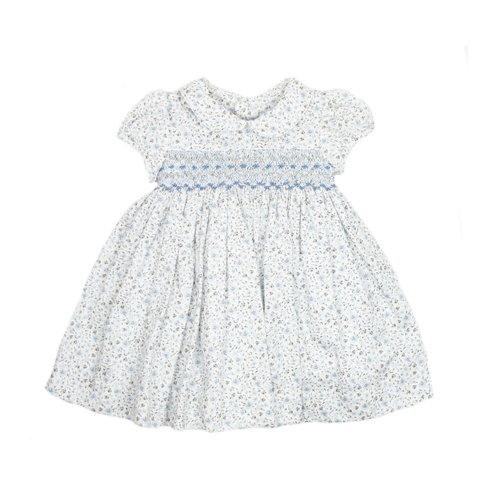 Periwinkle Floral Smocked Dress