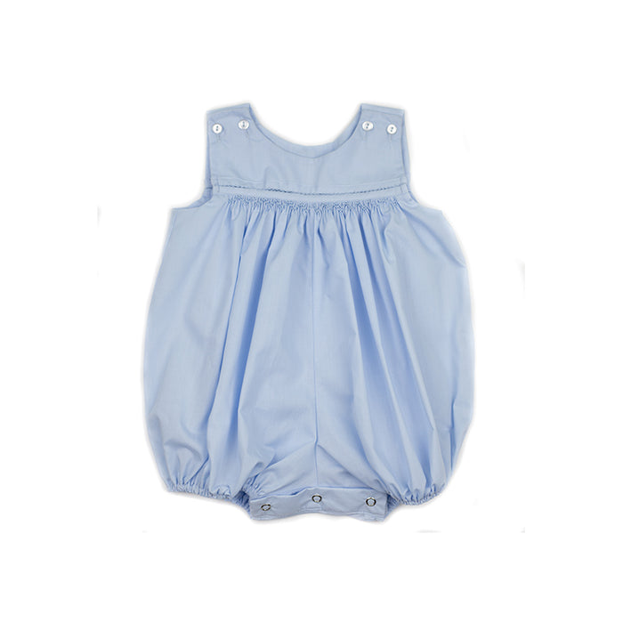 Classic Blue Smocked Bubble