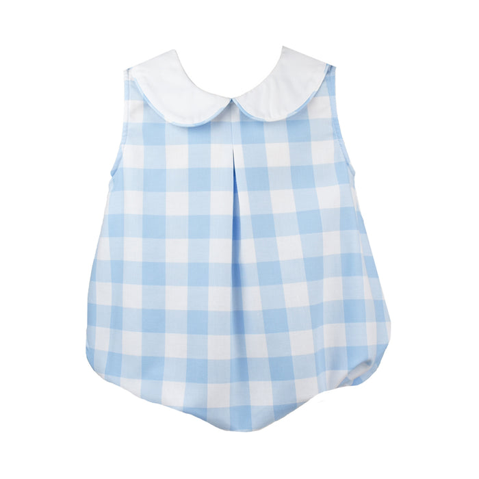Collier Blue & White Plaid Bubble