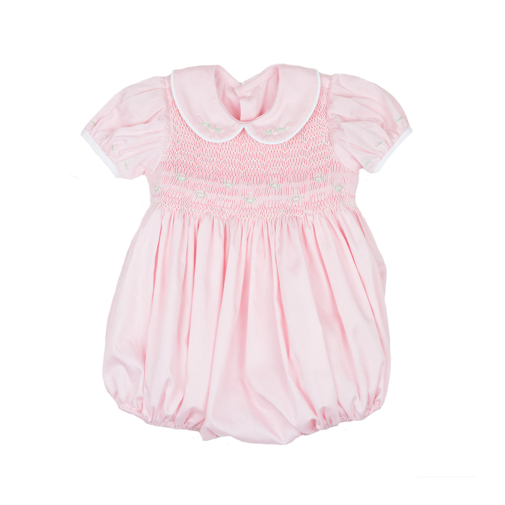 Kelli Pink Smocked Bubble