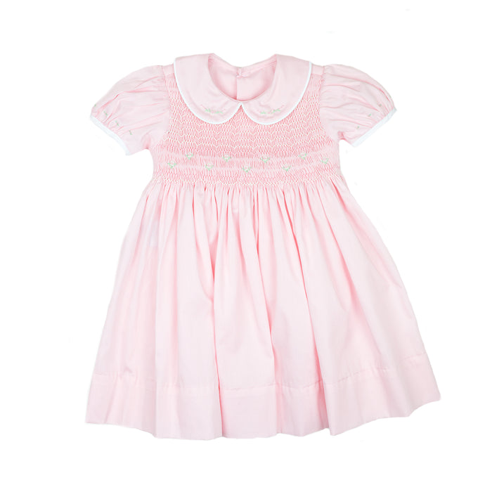 Kelli Pink Smocked Dress