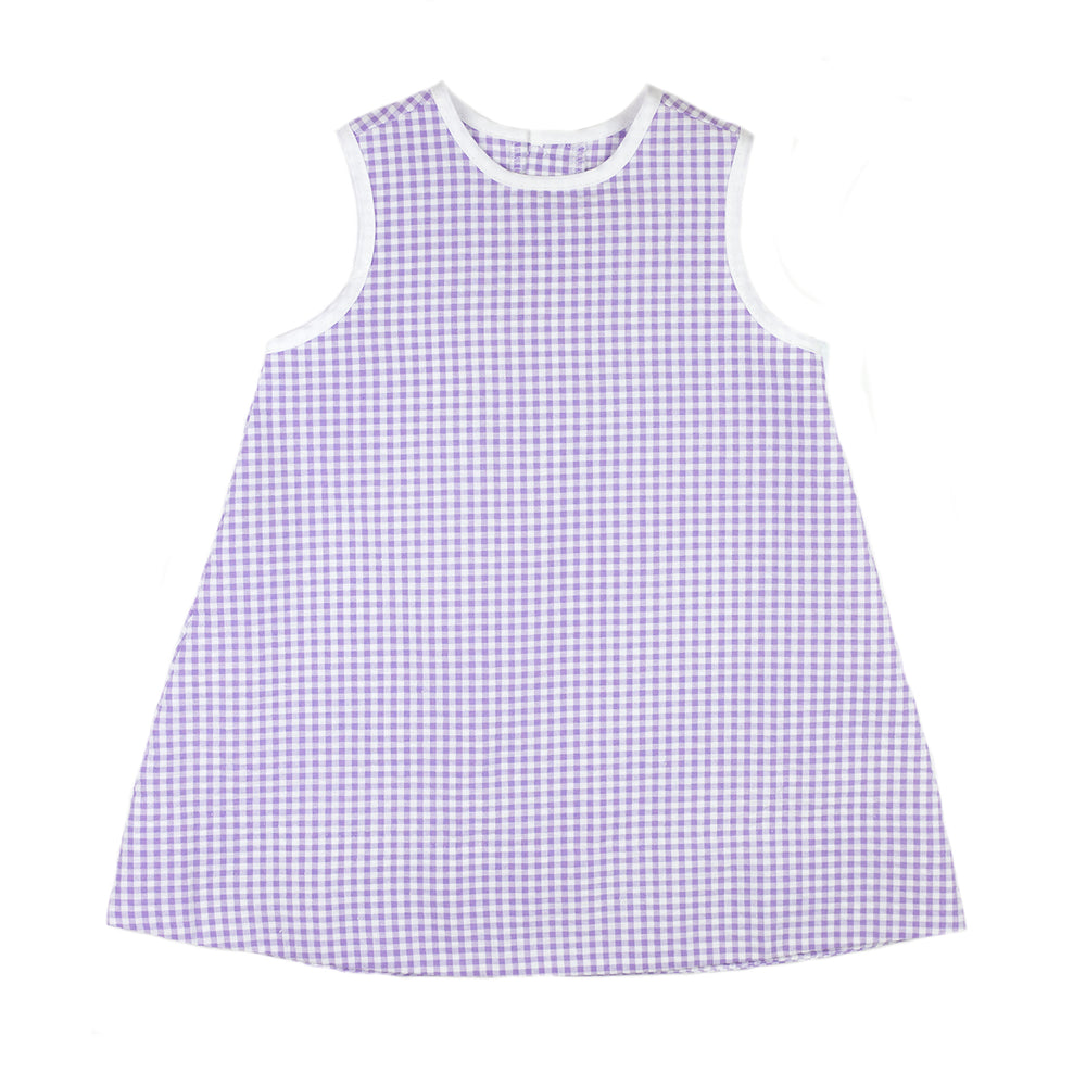 Jenny Purple Gingham Seersucker Dress