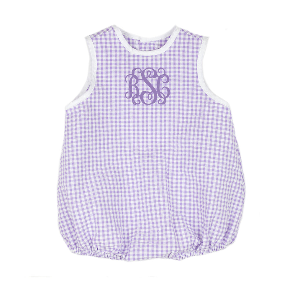 Betty Purple Gingham Bubble