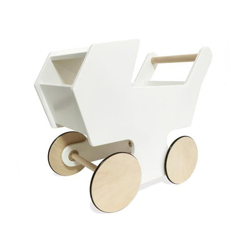 White Baby Buggy Push Cart