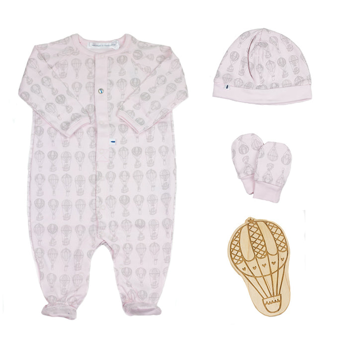 Up Up and Away Gift Set in Pale Pink