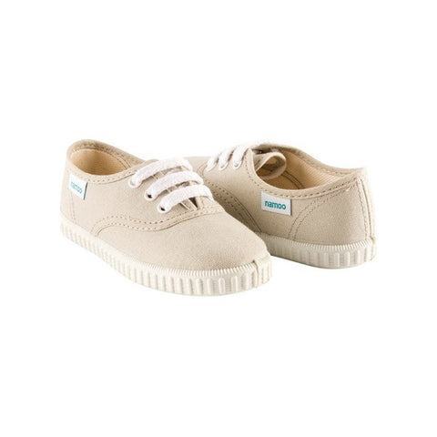 Khaki Canvas Lace-Up Sneaker