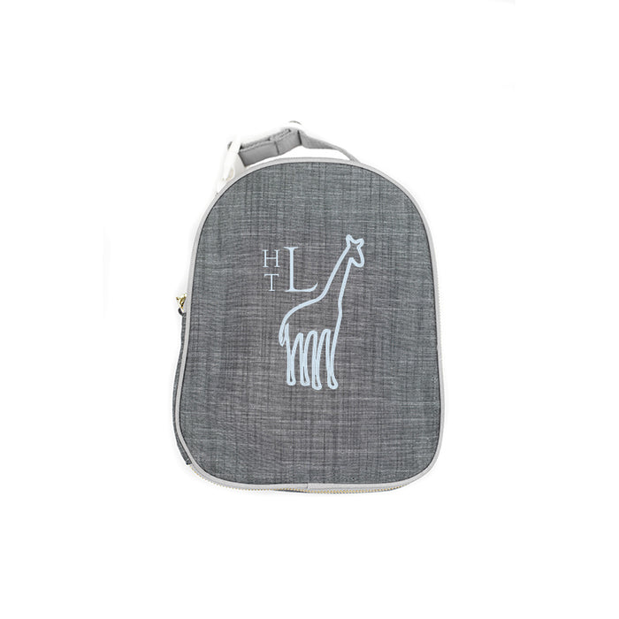 Personalized Grey Chambray Lunchbox