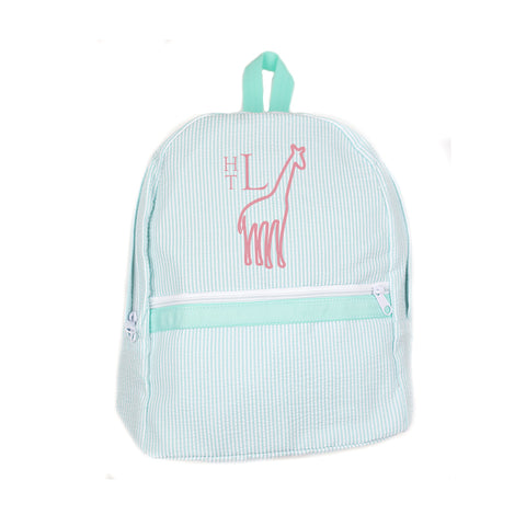 Personalized Mint Backpack