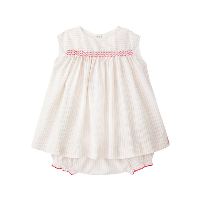 Smocked Dress and Bloomer Set