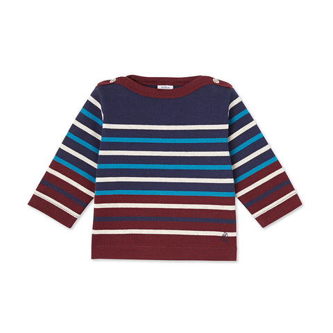 Burgundy Striped Shirt