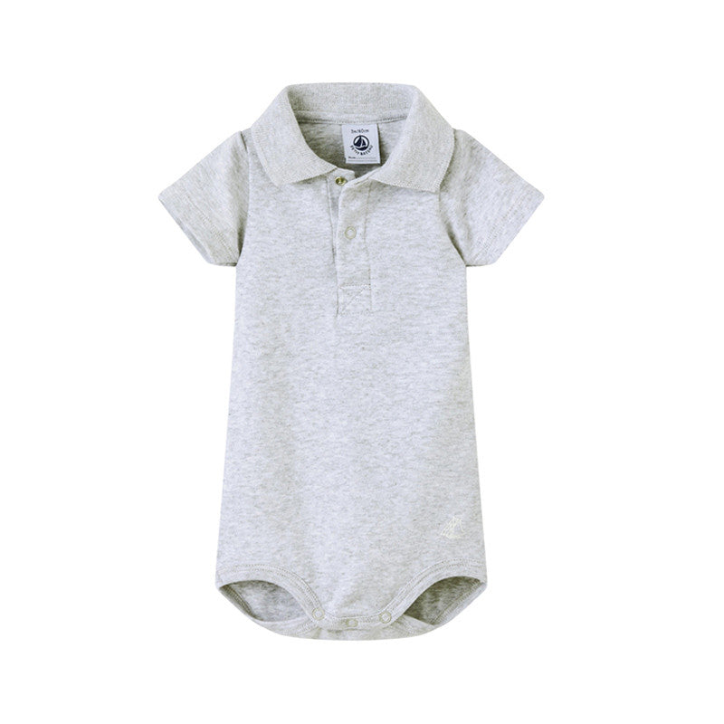 Grey Polo Bodysuit