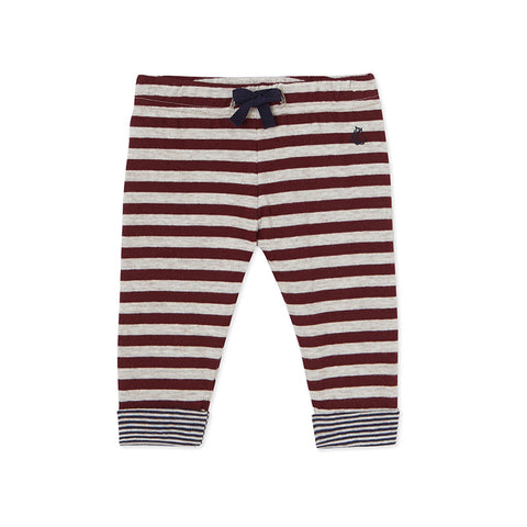 Burgundy Striped Pants
