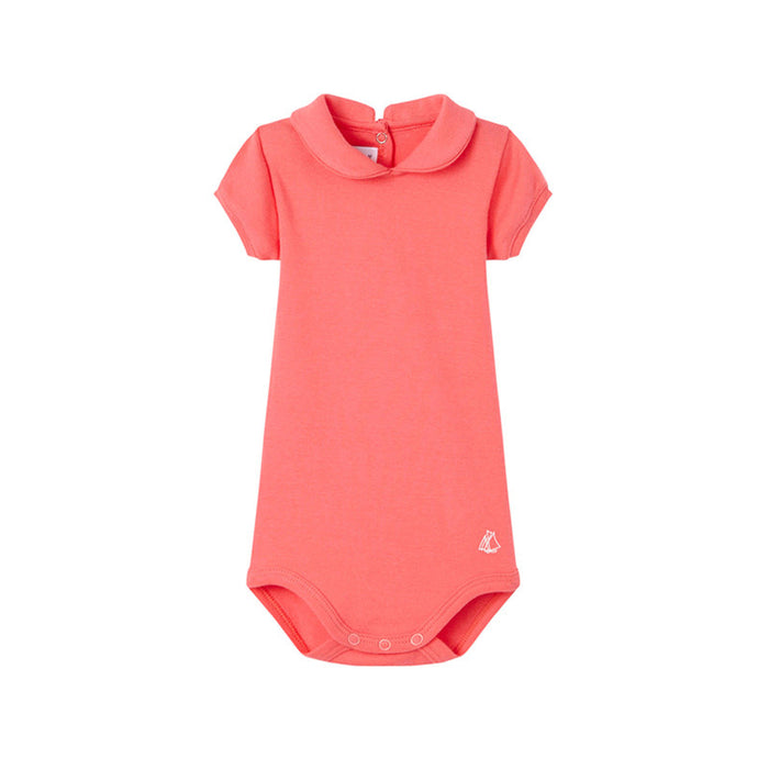 Hot Pink Peter Pan Collar Bodysuit