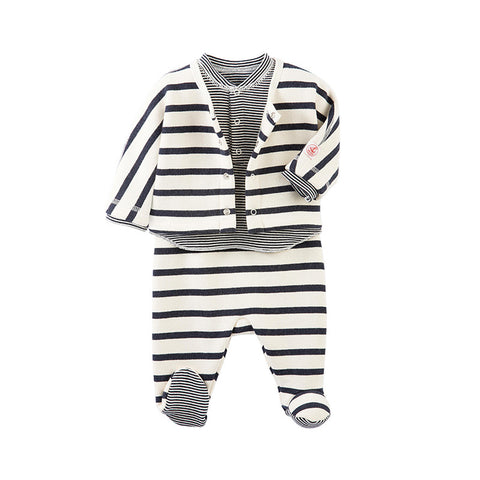 petit-bateau-three-piece-footie-set-navy-white-stripes