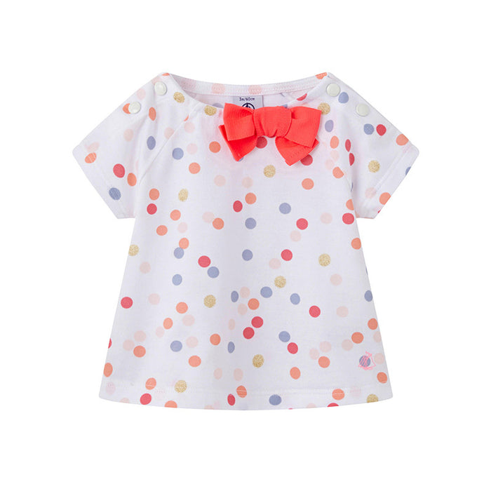 Short Sleeve Polka Dot Blouse
