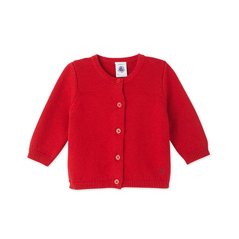 Red Cotton Cardigan