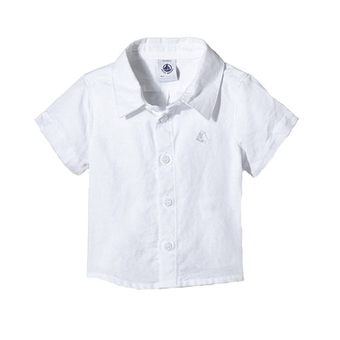 White Short Sleeve Button Down