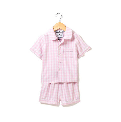Pink Gingham Short Set