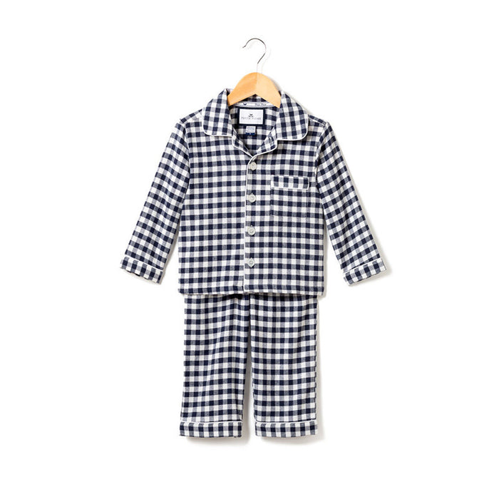 Navy Gingham Pajama Set