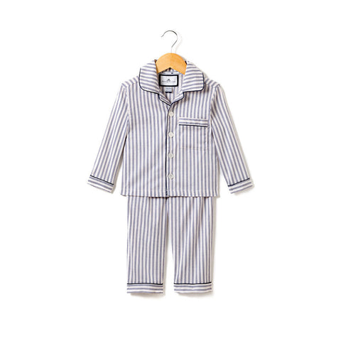 Navy French Ticking Pajama Set