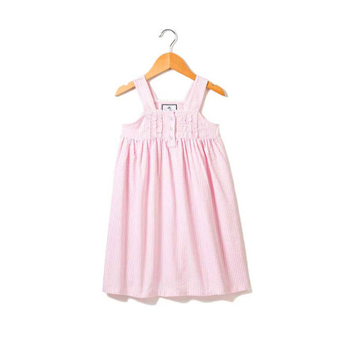 Pink Seersucker Charlotte Nightgown
