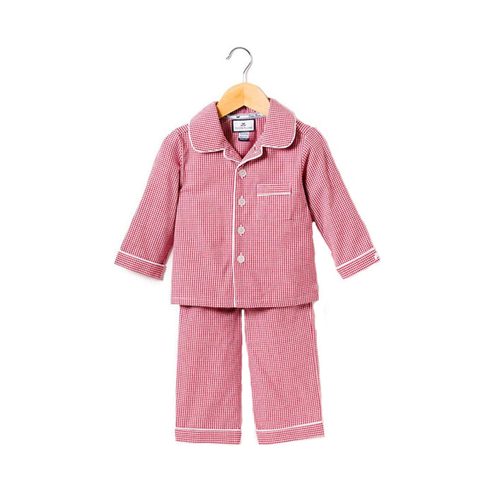 Classic Red Mini Gingham Pajama Set